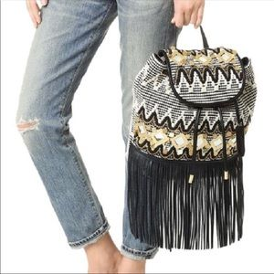 Rebecca Minkoff Taj Leather Fringe Boho Backpack